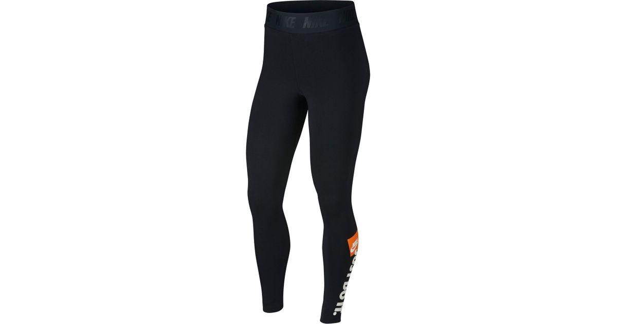 650bbec698293 Lyst - Nike Sportswear Just Do It High Rise Women's Leggings in Black