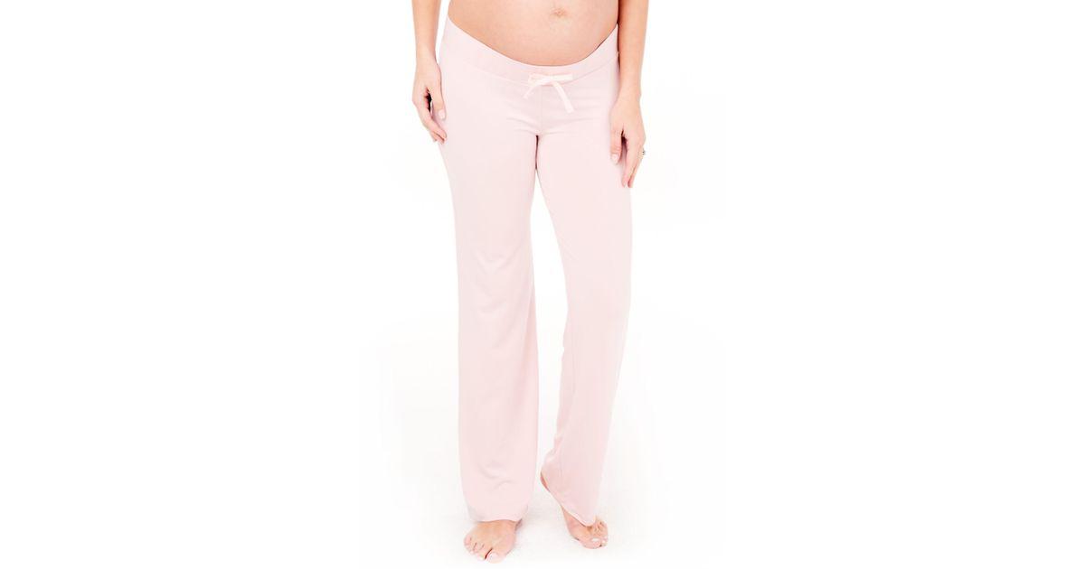 9849a5af5b961a Lyst - Ingrid & Isabel Ingrid & Isabel Maternity Lounge Pants in Pink