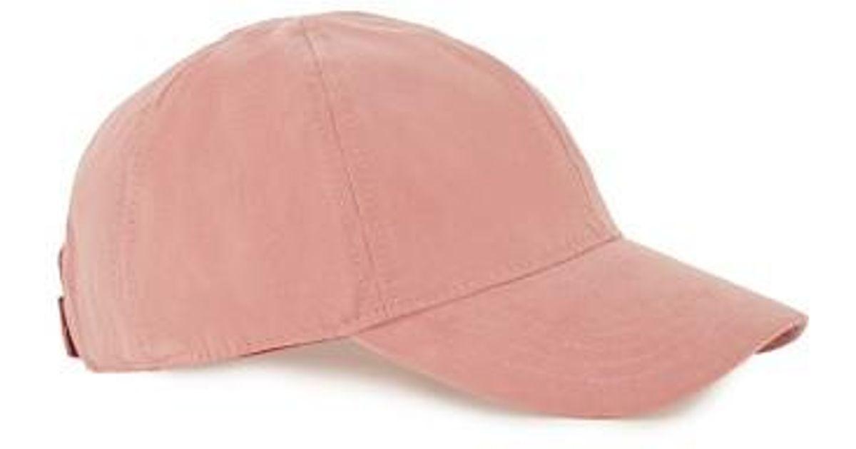 038fd826b Topman - Pink Brushed Ball Cap for Men - Lyst