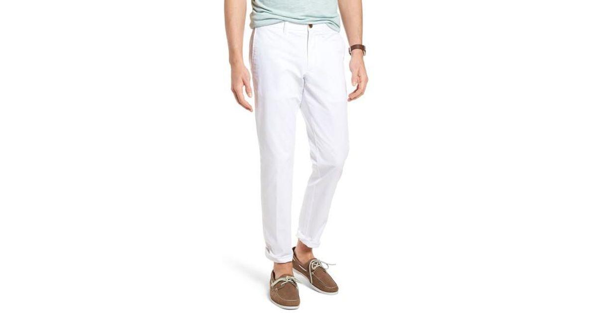 908c9d46eb Lyst - Nordstrom 1901 Ballard Slim Fit Stretch Chino Pants in White for Men