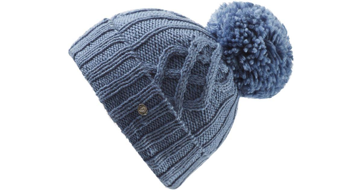 Lyst - Helen Kaminski Knit Wool Pom Beanie in Blue 53ef6131b3c8