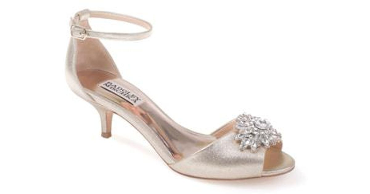 2786e4c05147 Lyst - Badgley Mischka Sainte Crystal Embellished Sandal (women)