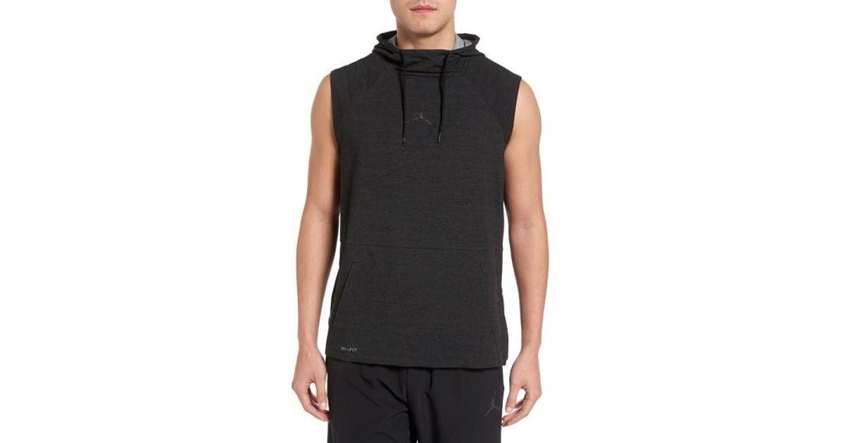 9b08285bf7eeab Nike Jordan 23 Tech Sphere Sleeveless Training Hoodie in Black for Men -  Lyst