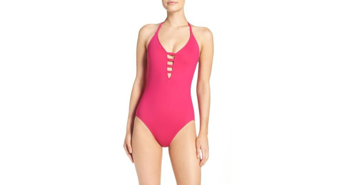 a4cb1d2cb6 Lyst - La Blanca One-piece Island Multi-strap Swimsuit in Pink - Save  66.19718309859155%