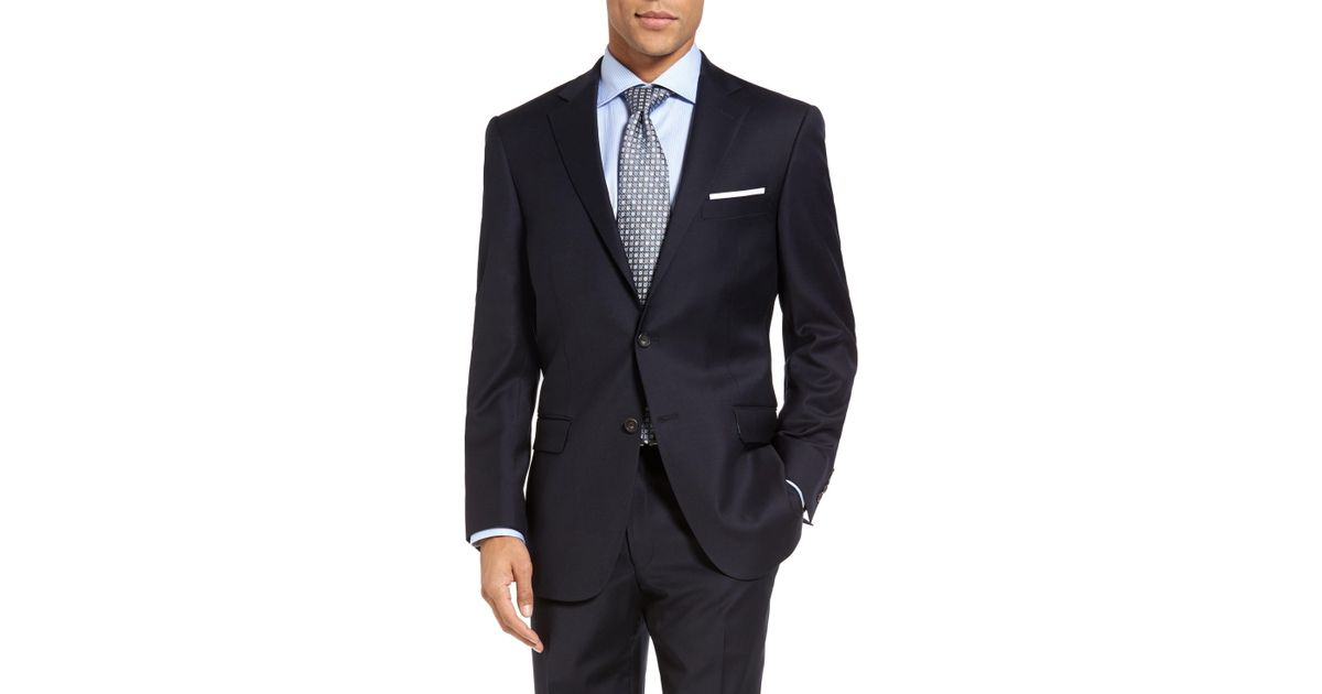 1a02c8ab25f Lyst - Hart Schaffner Marx New York Classic Fit Solid Wool Suit in Blue for  Men - Save 49.78417266187051%