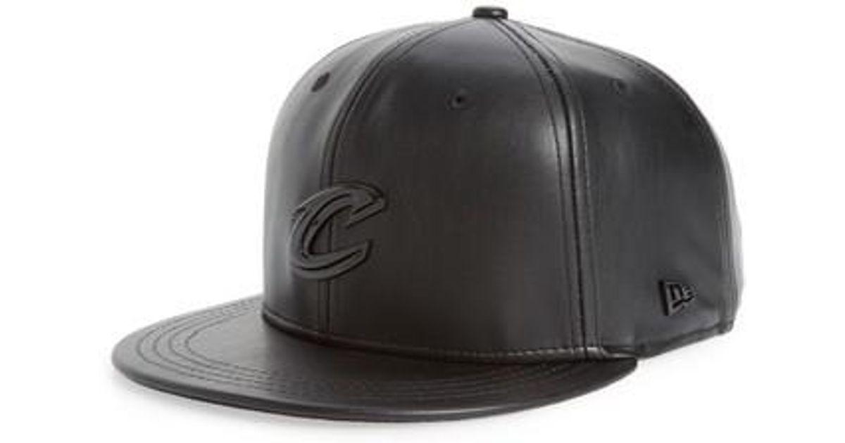 6043df0eacd Lyst - KTZ New Era Nba Glossy Faux Leather Snapback Cap in Black for Men