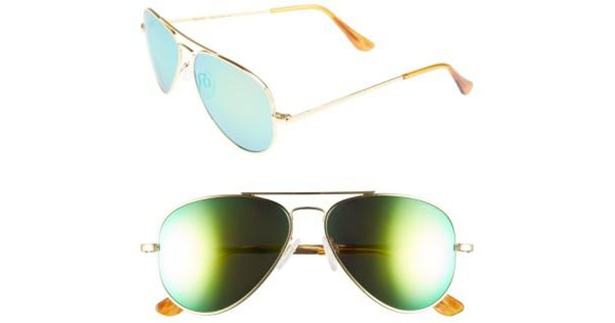 d44ff39e040cf Lyst - Randolph Engineering  concorde - Flash  57mm Aviator Sunglasses - 23k  Gold  Green Flash Pc in Green for Men