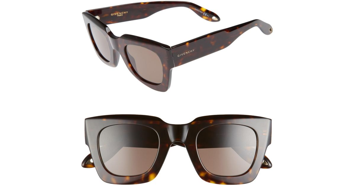 a1b10730d061 Lyst - Givenchy 48mm Square Sunglasses - Dark Havana in Brown