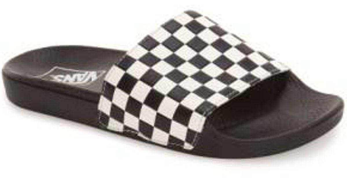 vans black and white checkerboard flip flops