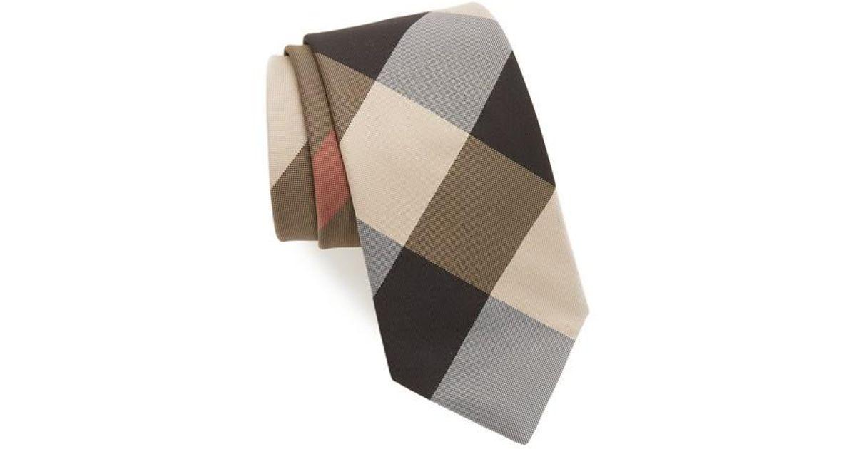05127b7cb63f wholesale burberry clinton check classic tie da571 2ec38; release date lyst  burberry clinton silk tie for men e4bc7 1b5e1
