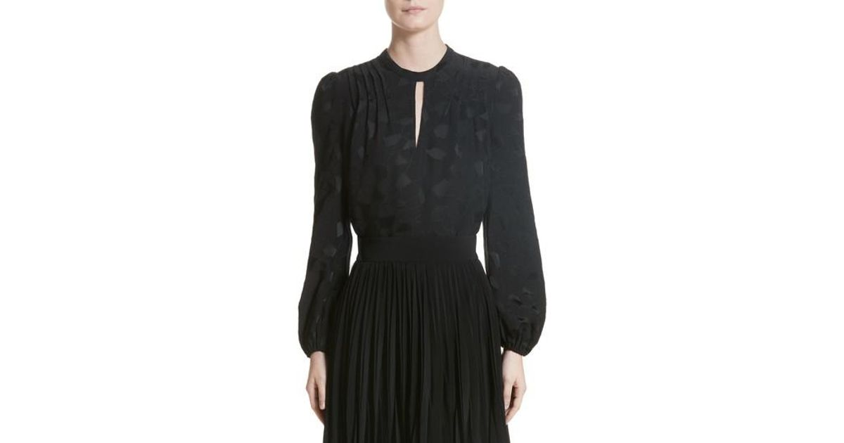 Black Puff Sleeve Blouse