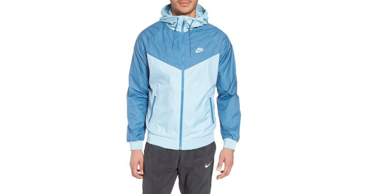 63ae27582800 Nike  windrunner  Colorblock Jacket in Blue for Men - Lyst