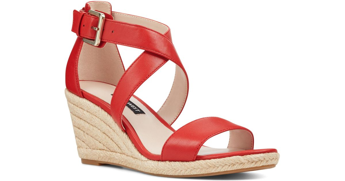 06da5cc3bc0 Lyst - Nine West Jorgapeach Espadrilles Sandals in Red