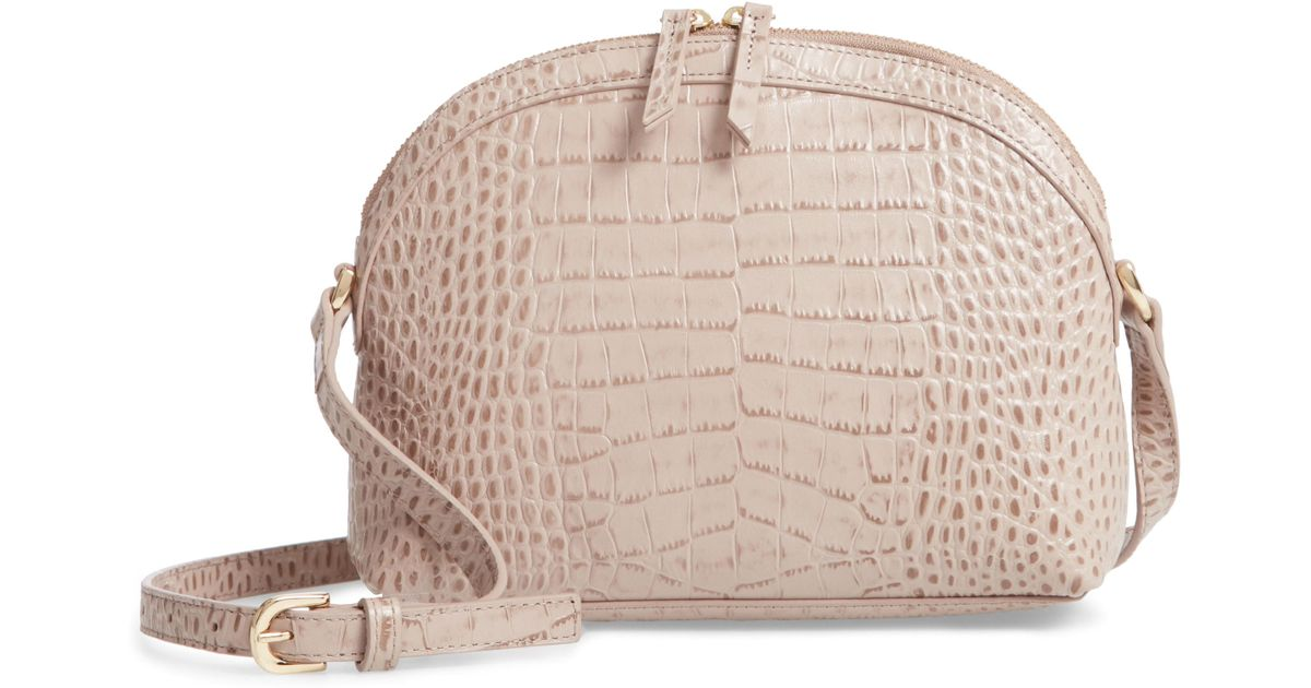 d29530cdd96d Lyst - Nordstrom Isobel Half Moon Leather Crossbody Bag - in Pink