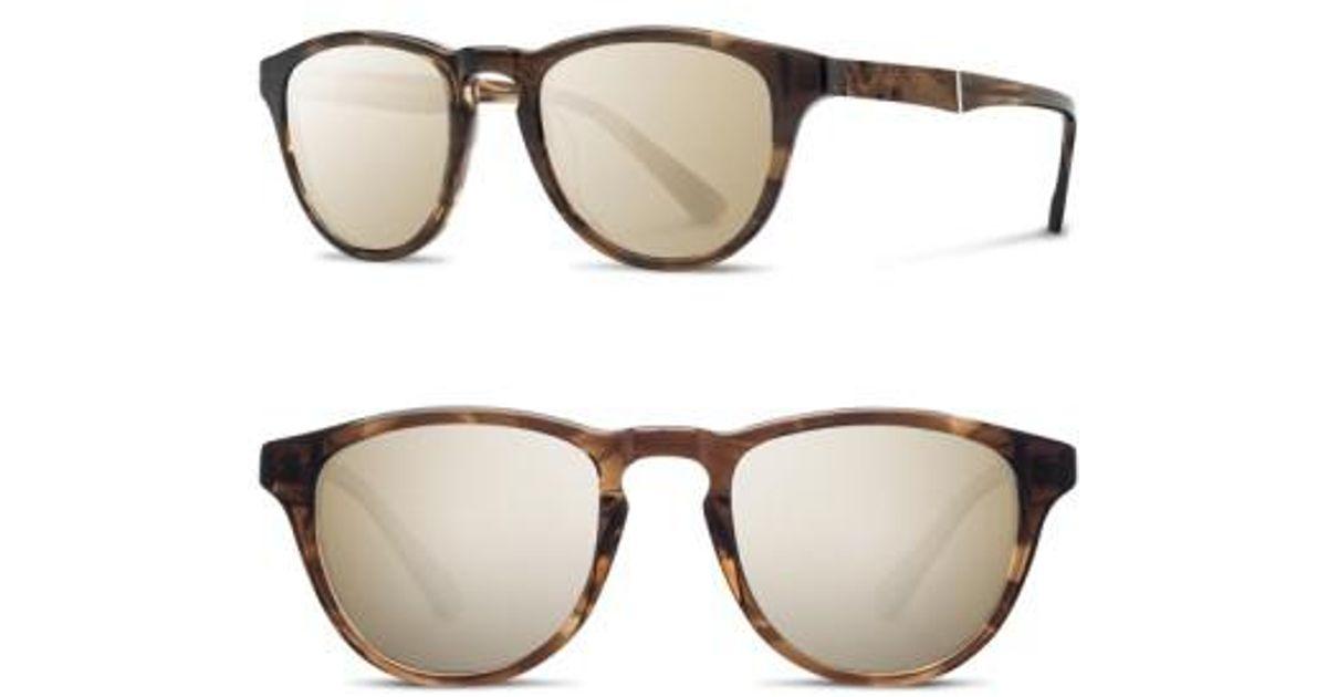 fba46be3af71 Lyst - Shwood  francis  49mm Sunglasses - Bourbon  Elm  Gold for Men