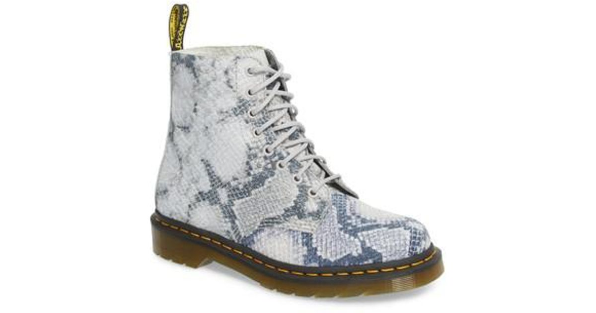 7dd0bbed7726b Lyst - Dr. Martens Pascal Snake Boot in Gray