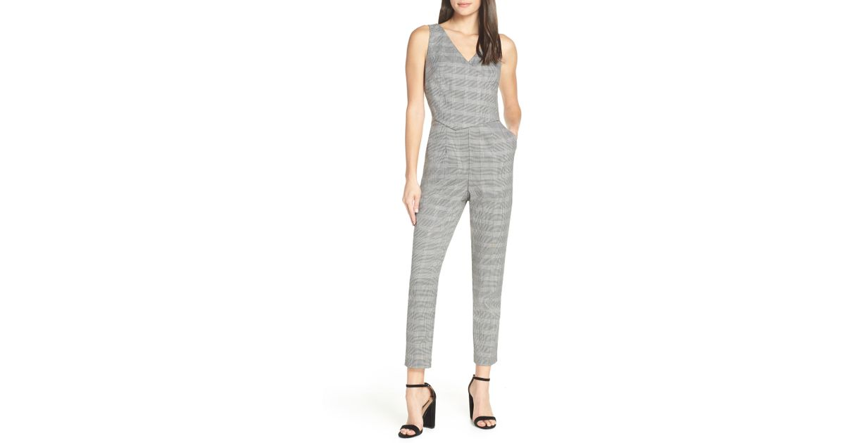a2a3c9c828cf Lyst - Ali   Jay Serious Business Jumpsuit in Gray