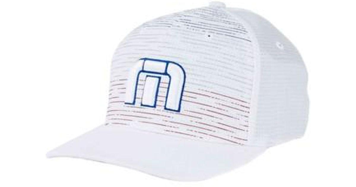Lyst - Travis Mathew Hawking Flex-fit Ball Cap - in Blue for Men 0fb9faca6250