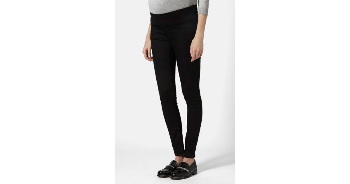 ed293d8833665 Lyst - TOPSHOP Moto 'joni' High Rise Skinny Maternity Jeans in Black