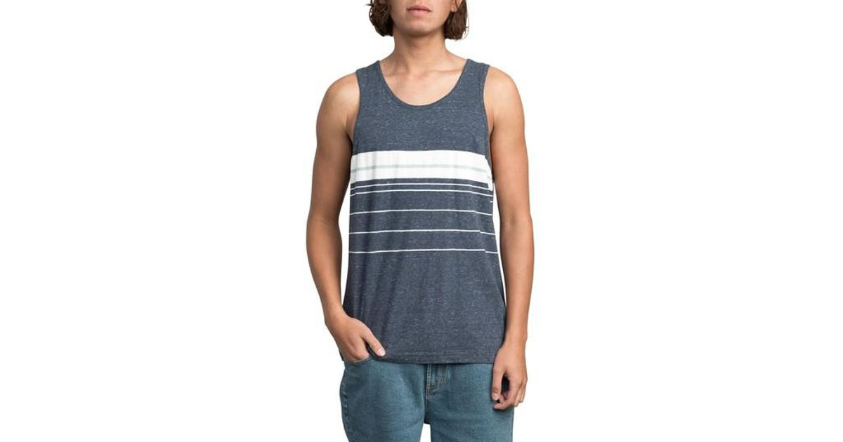 RVCA Lenix Stripe Tank Outlet New Arrival Sale With Mastercard Cheap Sale Affordable 6hR6X3D