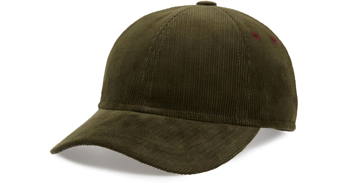4d51c3fde3ef2c Lyst - Ted Baker Corduroy Baseball Cap in Green for Men