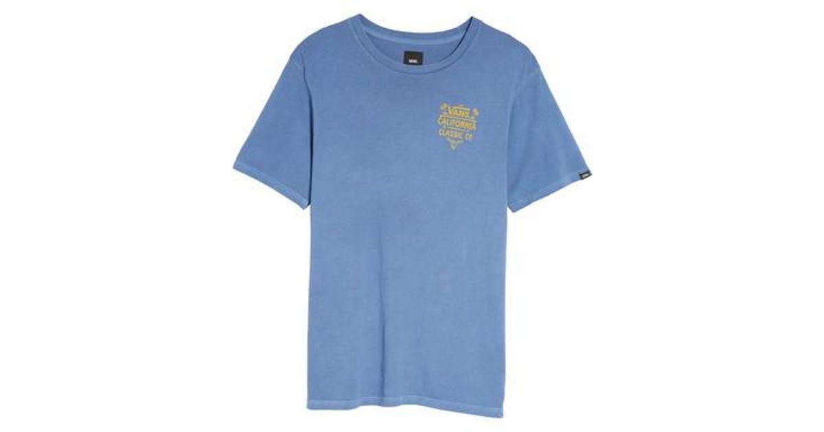 f0aa4ac6cd Vans - Blue California Classic Co. Overdye T-shirt for Men - Lyst