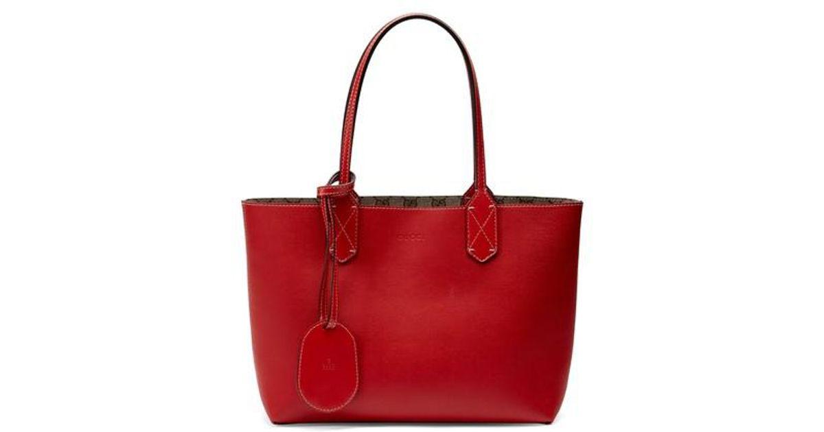 5e7268d57b59cc Gucci Small Turnaround Reversible Leather Tote - Lyst