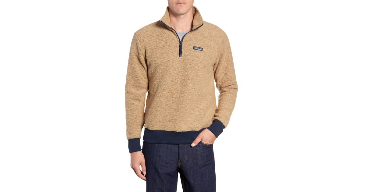 85f4223154357 Lyst - Patagonia Woolyester Fleece Quarter Zip Pullover in Natural for Men