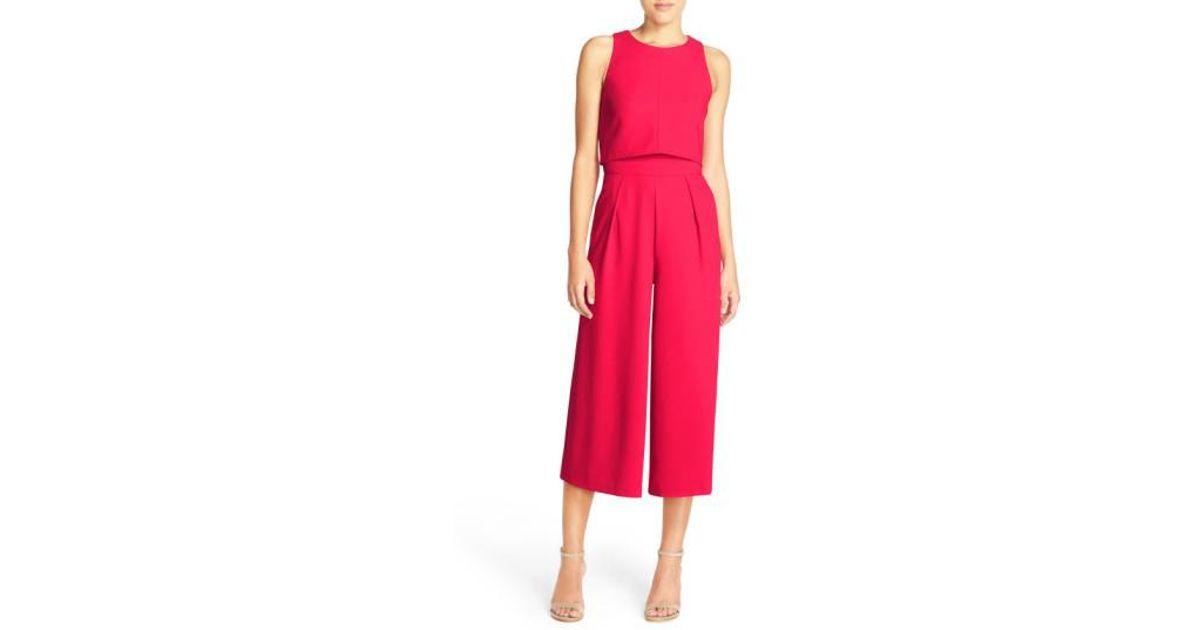 03c3b9446c4f Lyst - Chelsea28 Popover Crop Jumpsuit in Pink