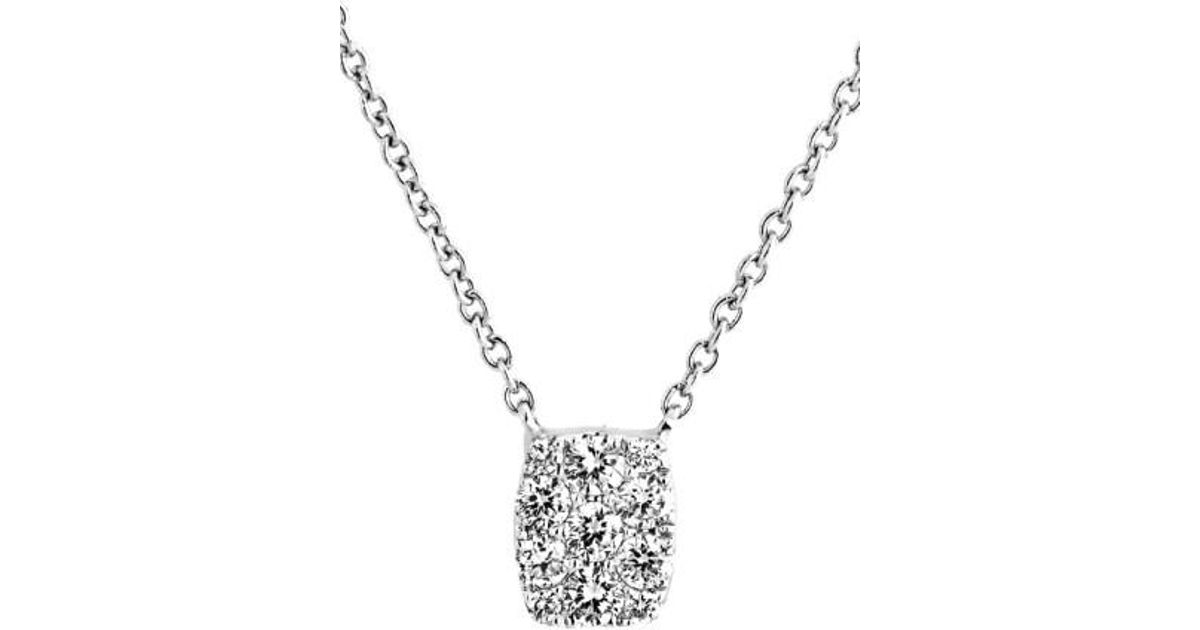 Lyst bony levy mika mini rectangle pave diamond pendant necklace lyst bony levy mika mini rectangle pave diamond pendant necklace nordstrom exclusive in metallic aloadofball Choice Image