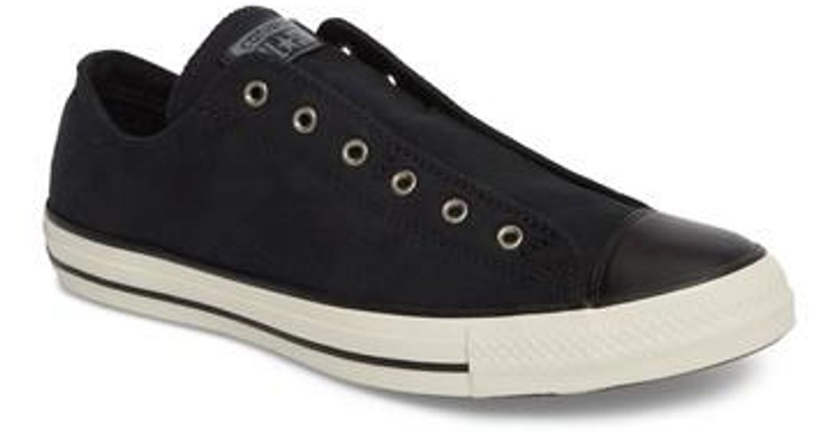7a39f8128a3ce1 Lyst - Converse Chuck Taylor(r) All Star(r) Laceless Low Top Sneaker  (unisex) in Black for Men