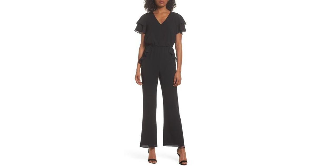 1ed6f4898a6 Lyst - Ali   Jay Love In The Air Ruffle Jumpsuit in Black