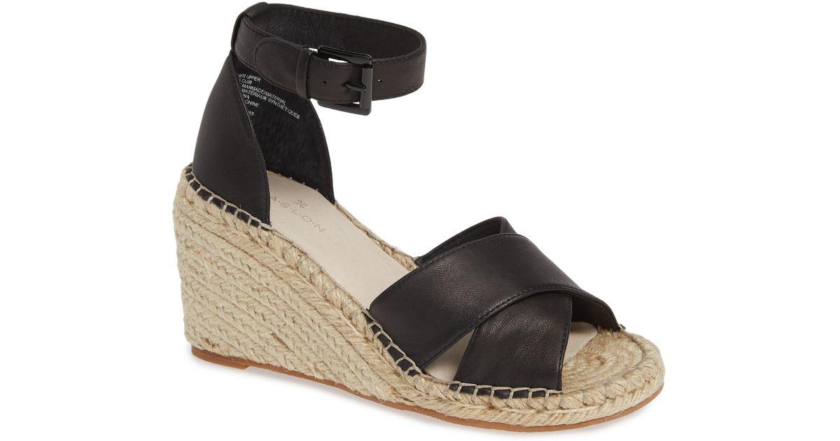 6c8c749d81a Caslon Caslon Shiloh Espadrille Sandal in Black - Lyst