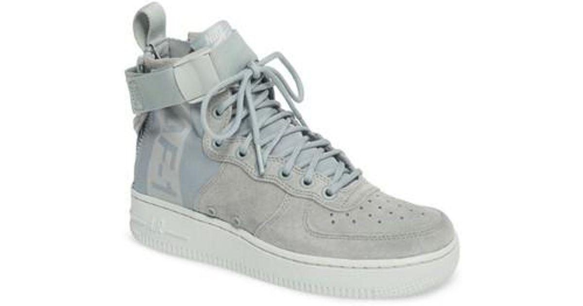 Lyst - Nike Sf Air Force 1 Mid Sneaker in Gray 80a0ffe90