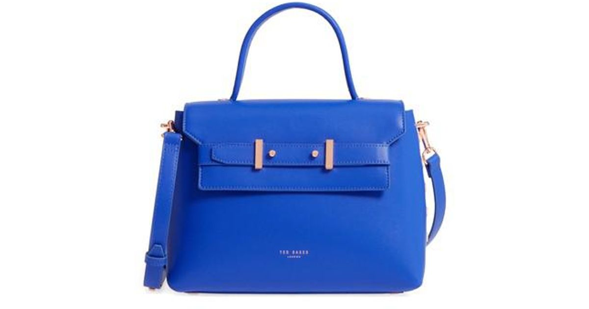 9fa5b97669b Ted Baker Taymar - Studded Edge Lady Bag Leather Top Handle Satchel in Blue  - Lyst