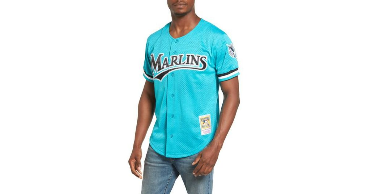 9578672e392 ... promo code lyst mitchell ness andre dawson florida marlins authentic  mesh jersey in blue for men