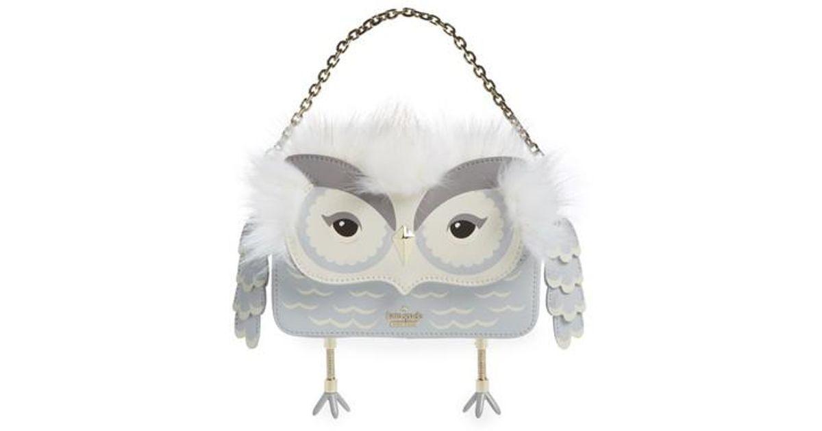 Lyst Kate Spade Mini Jocelyn Starbright Owl Faux Fur Leather Top Handle Bag
