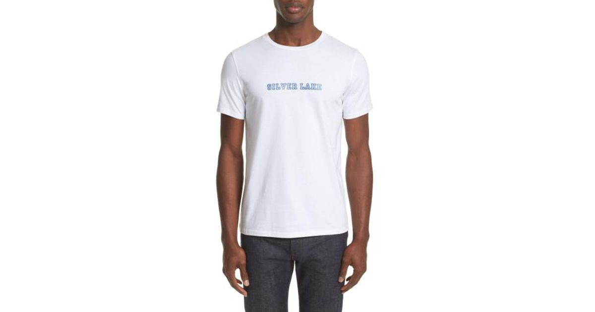 Lyst a p c silver lake t shirt in white for men for Silver jeans t shirts
