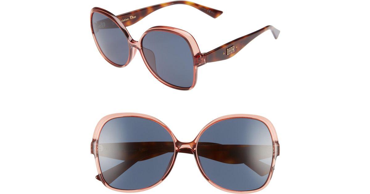 04c515b8f638f Lyst - Dior Nuance F 60mm Sunglasses in Pink