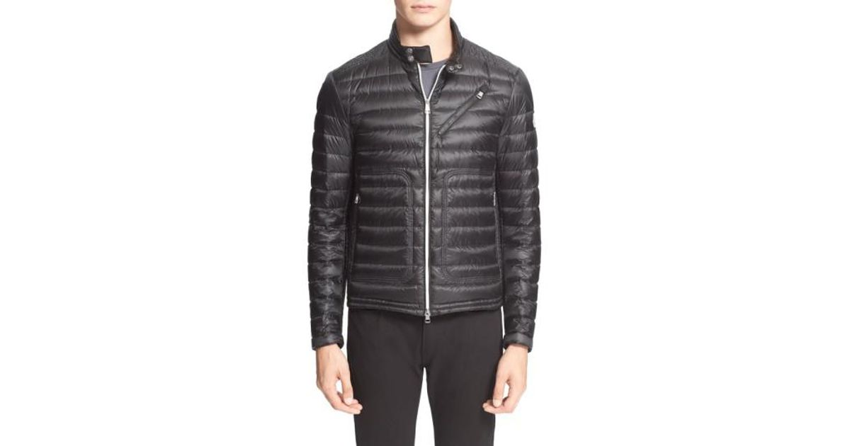 ce305d9c8 Lyst - Moncler  picard  Quilted Down Moto Jacket in Black for Men