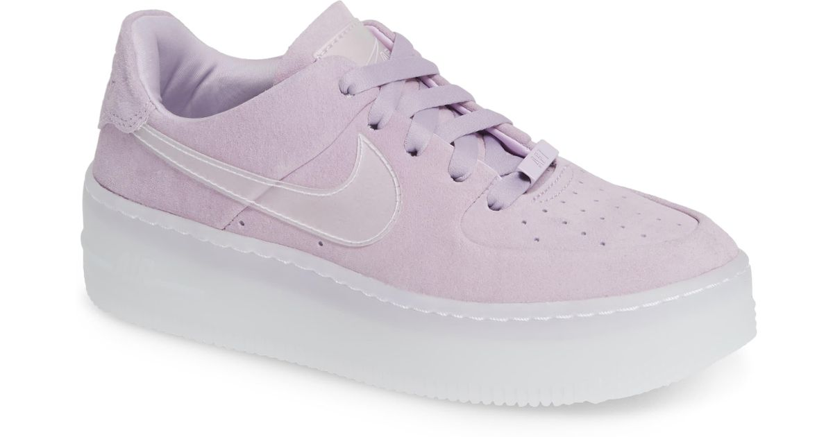 bda778c933fc Nike Air Force 1 Sage in Purple - Save 31% - Lyst