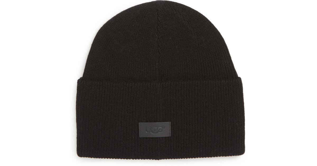 71f811fc240ec Lyst - Ugg Ugg High Cuff Knit Wool   Cashmere Beanie in Black for Men