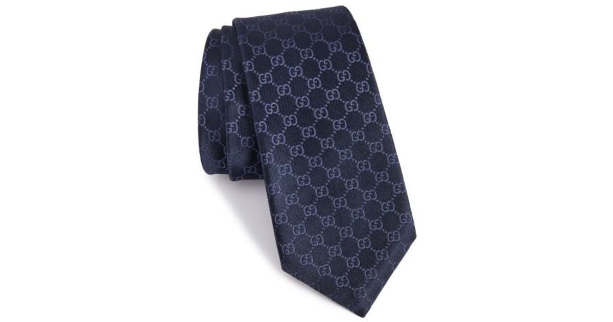 86f50778f Gucci Federa Silk Jacquard Tie in Blue for Men - Lyst