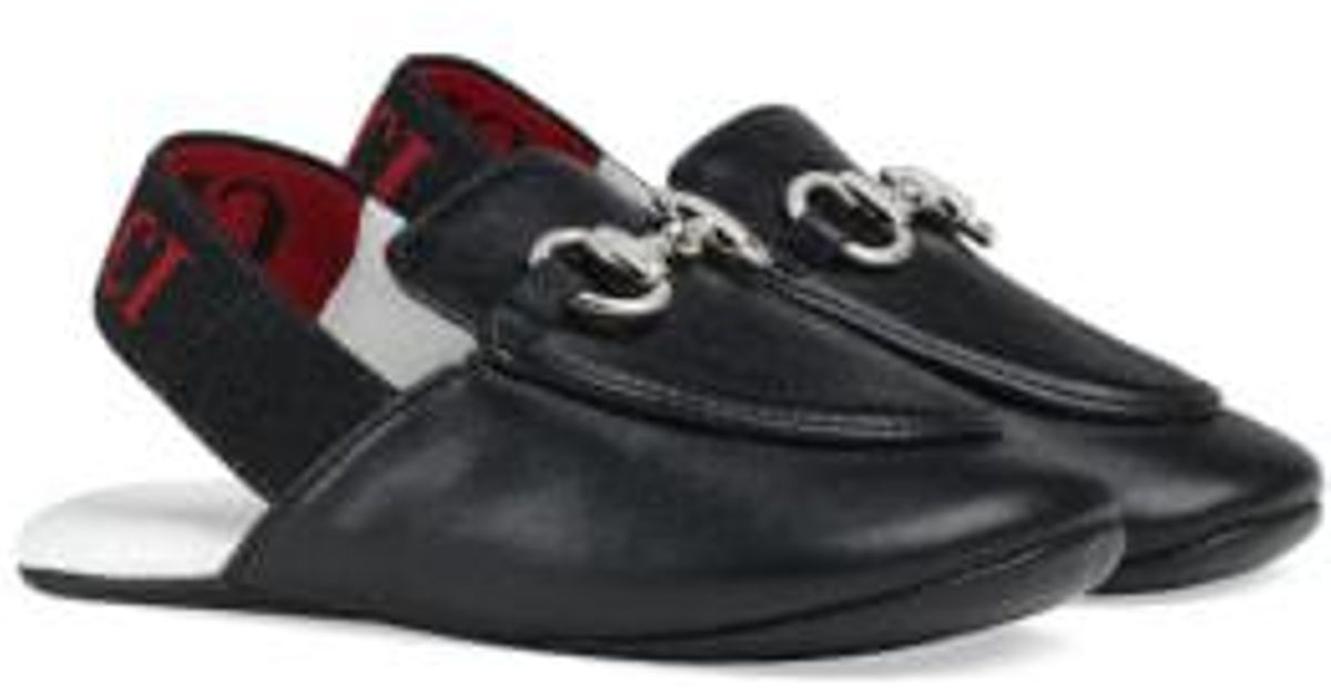 Lyst - Gucci Princetown Loafer Mule in Black 437cb2f1d13