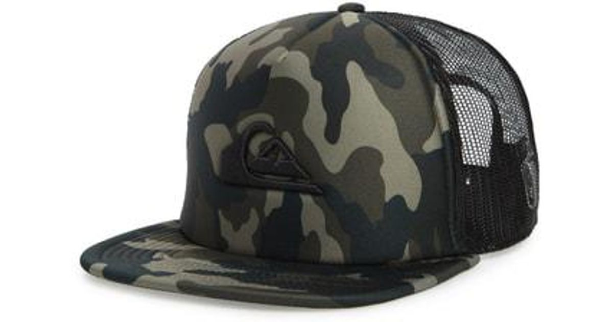 710ee4d53533f ... camo one size c77e0 7fe1a italy lyst quiksilver all in trucker hat in  green for men 260a0 ff5d3 ...