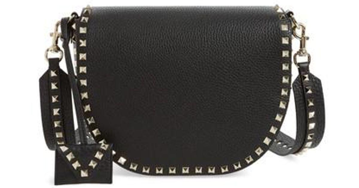 Valentino Rockstud Leather Saddle Bag XXe0aFV