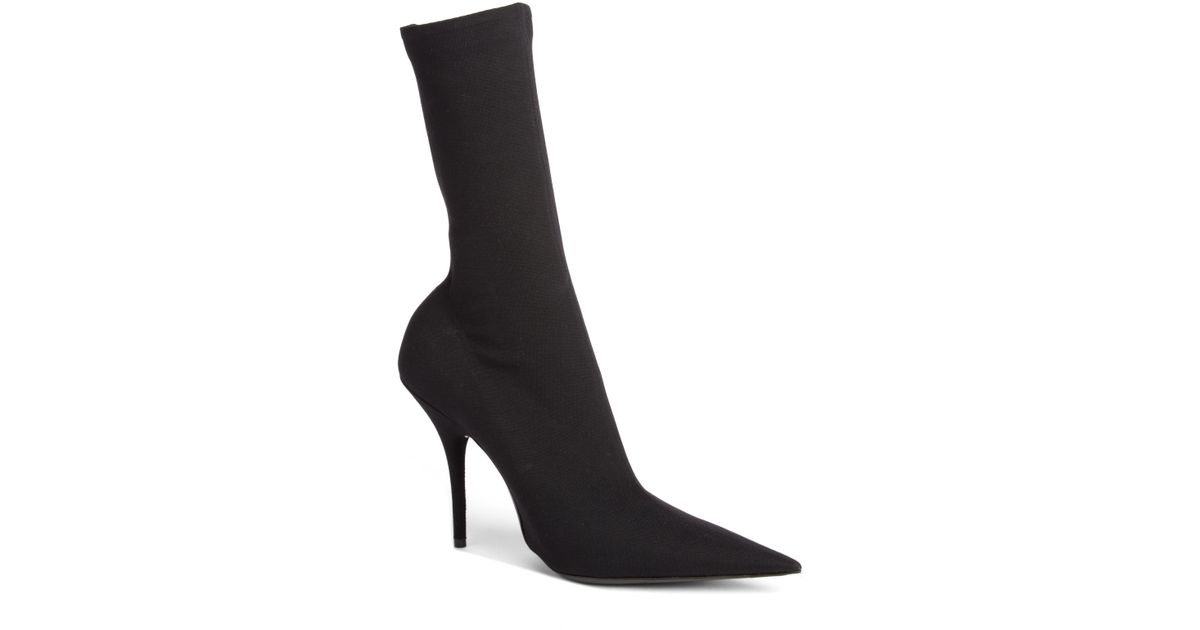 56942d272cc0 Lyst - Balenciaga Stiletto Heel Pointed Sock Booties in Black - Save 8%