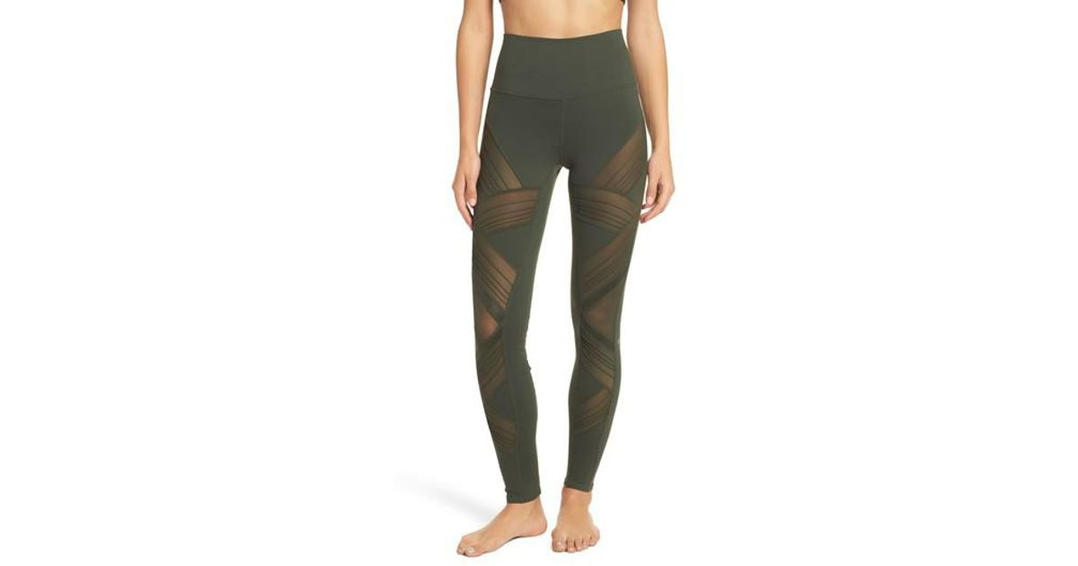 b589acf416 Alo Yoga Ultimate High Waist Leggings in Green - Lyst