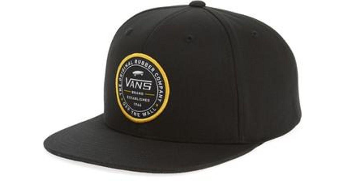 a5964a413f7 Lyst - Vans Established 66 Snapback Baseball Cap in Black for Men