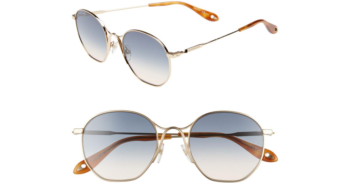 4ec4fb78f6d3 Lyst - Givenchy 53mm Squared Round Metal Sunglasses in Metallic